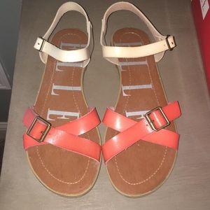 Elle Two tone flat sandal-Elfarley Multi
